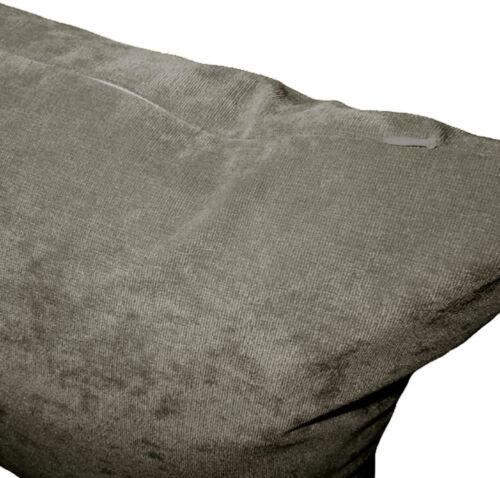 Ma18a Ash Gris Velours Style Mélange Coussin Housse//taie d/'oreiller Taille personnalisée