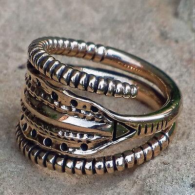 Humor Massiver Replik Ring Bronze Alamannen Gr 52-59 Verstellbar Germanen Mittelalter Kunden Zuerst