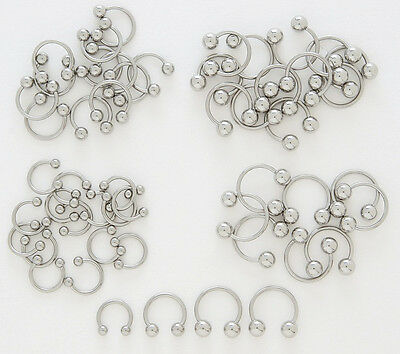 10pcs Clear Gem Stud Tragus Rings 16g Wholesale Body Jewelry Cartilage Barbells