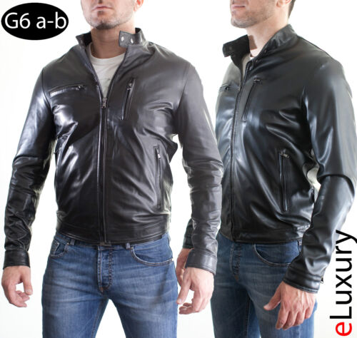 ★ In PELLE 100/% o Di Pelle PU ★ Giubbotto Giacca Uomo Men Leather Jacket G6a-G6b