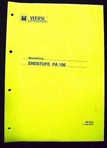 HonnêTe Wersi De Recette Finale Pa 106 Original-afficher Le Titre D'origine