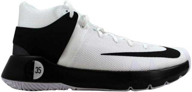 d9fda7c7f157 Nike KD Trey 5 IV Basketball Shoes Kevin Durant White Black 844571-100 Mens  10
