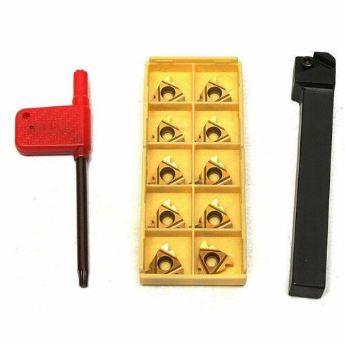 1pc SER1212H16 Lathe Turning Tool Holder+10p 16ER AG60 threading carbide insert