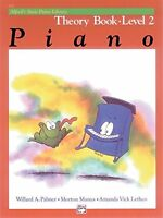 Alfred`s Basic Piano Library Theory Book: Level 2 By Willard Palmer, (paperback) on sale