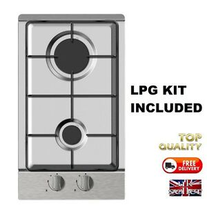 Motorhome-Compact-Gas-Hob-In-Stainless-Steel-LPG-KIT-INCLUDED-Self-Build-Camper