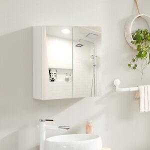 Armadietto con Specchio Mobile Bagno Sospeso Mobiletto da Parete BBK120W01