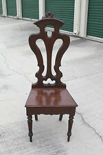 Walnut Victorian Renaissance Revival Pierce Carved Music Chair ~ Ca.1870