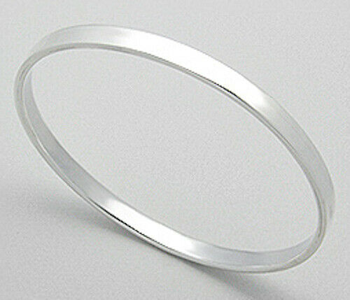 """Sterling Silver Bangle Bracelet 5mm Wide CLASSIC Solid 9.8g Fits 7/""""-7.5/"""" Wrist"""