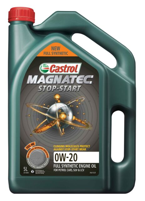 Castrol MAGNATEC 0W-20 Stop-Start Full Synthetic Engine Oil 5L 3414099