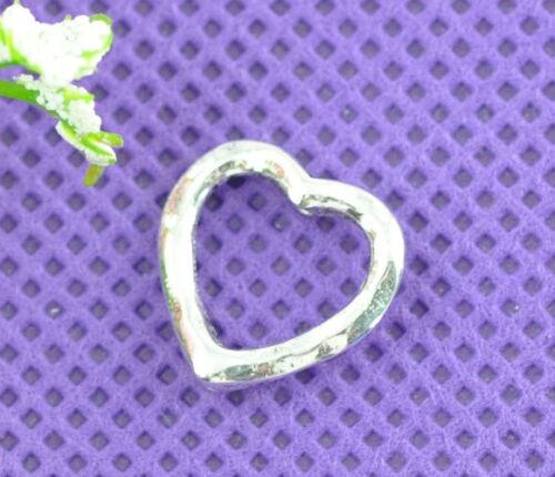 50 Cadres de Perles Coeur Embellissement 14x14mm