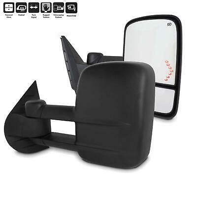 Pair Power LED Signal Towing Mirrors for Chevy Silverado 1500//2500//2500HD 07-13