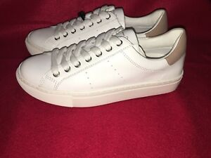 WHITE LEATHER SNEAKERS Men Massimo Dutti | Sneakers