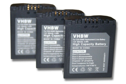 3x BATTERY FOR LEICA V-LUX1 L VLUX 1 LUX