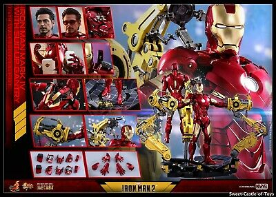 TYStoys 1//6 MK6 Iron Man Mark VI Suit-Up Gantry Unpacking Scene Platform Toy Gif