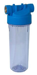"""Filtergehäuse Filter Wasserfilter Profiqualität ABS und SAN 9""""3/4 NEU PRFIL9SV2"""