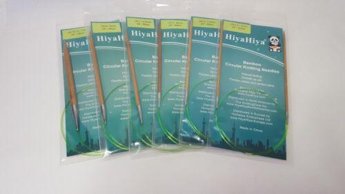 "32/"" 2-10 mm 80cm, HiyaHiya Bambú Agujas Circulares Fijas"