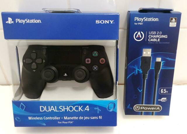 Official Sony DualShock 4 PlayStation 4 PS4 Wireless Controller+cable Jet Black