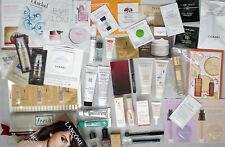 HUGE Lot of 42 Luxury Beauty Samples & Makeup Bag Cosmetics Makeup Skincare Mini