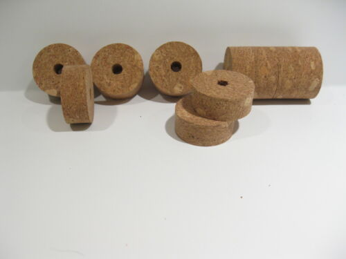 "1 1//4/"" x 1//2/"" x 1//4/"" Hole 4 Natural Burl Cork Rings"