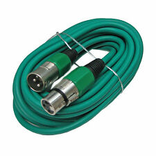 XLR Male to Female 3pin Mic Microphone Lo-z Extension Cable Cord 25ft Green