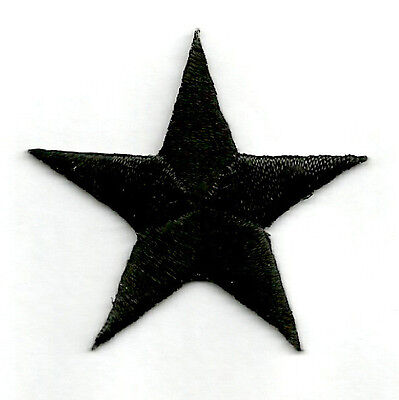"ONE DOZEN - 12 4cm WHITE EMBROIDERED STARS IRON ON PATCHES 1 5//8/"""