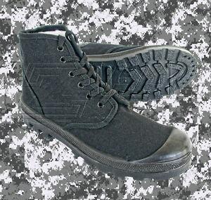 Palladium Dafna Scout Black Israeli Commando Canvas boots