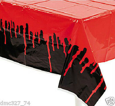 1 HALLOWEEN Zombie Party Decoration Prop Plastic Blood BLOODY DRIPS Table Cover