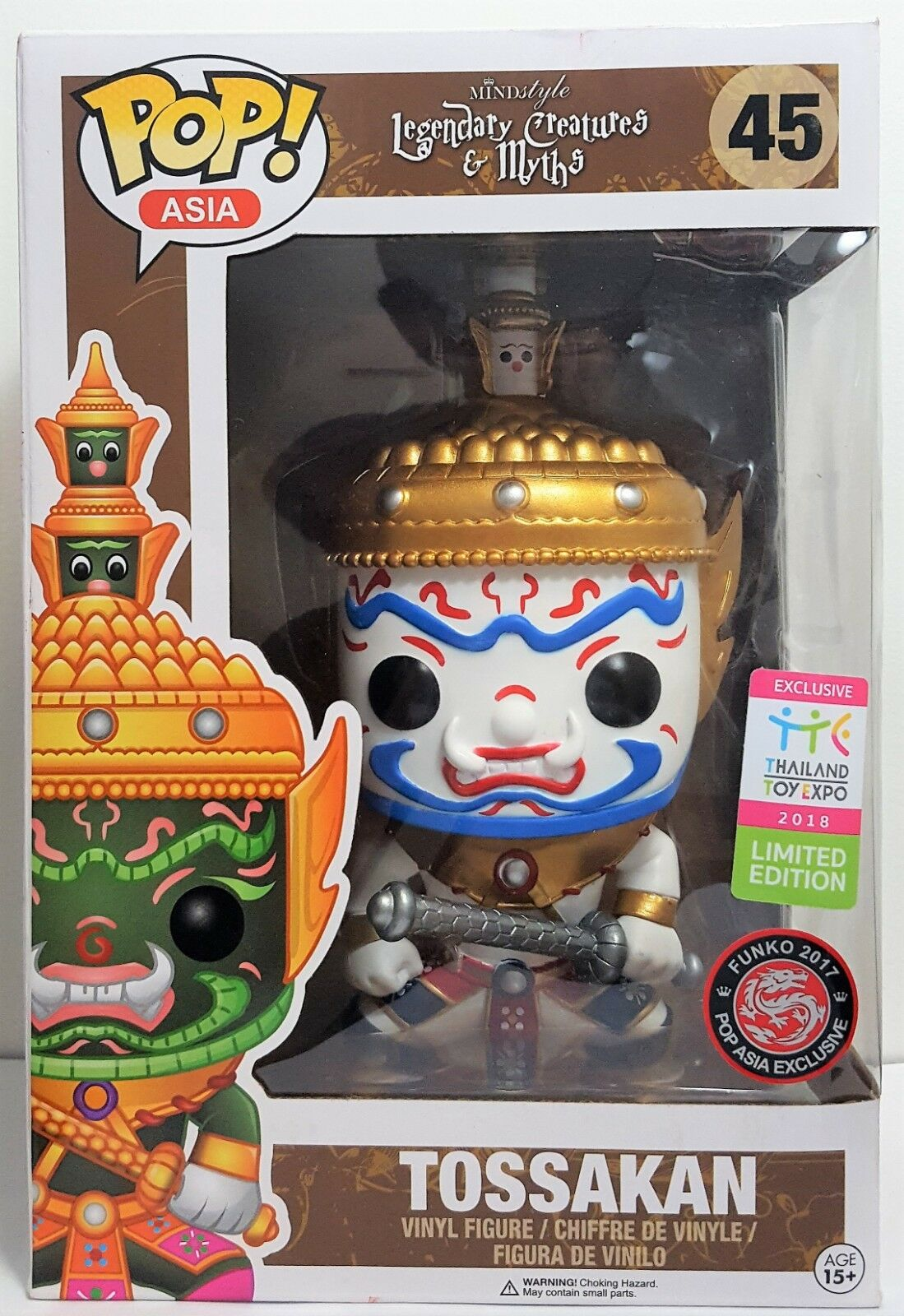 Funko Pop bianca Tossakan  45 Legendary Creatures Thailand Excl Slightly Damaged