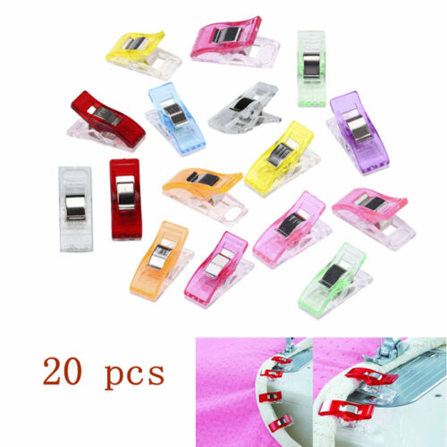 20pcs Plastic Quilter Holding Wonder Clips Quilt Binding Sewing Accessories Hot