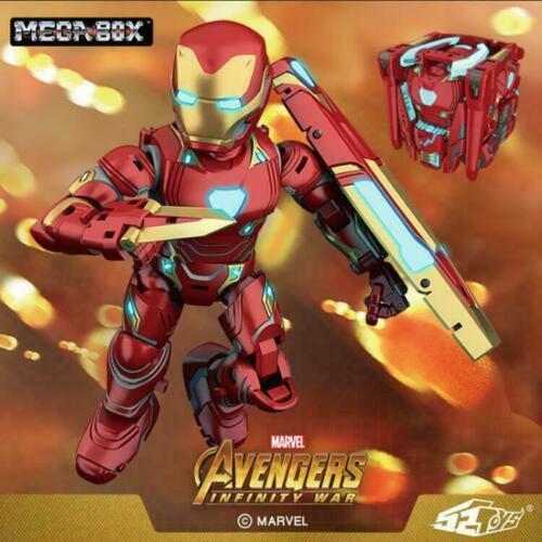 52TOYS MEGABOX 10cm Iron Man MK50 PVC Figures Avengers Infinity War Doll Toy
