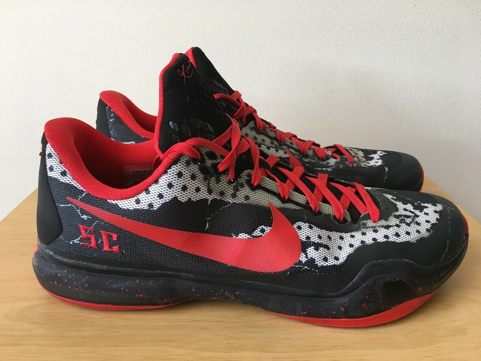 KOBE BRYANT NIKE ID USC TROJANS FIGHT ON Black Red shoes Sneakers Size 15