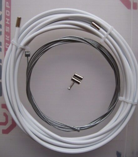TANDEM  WHITE BRAKE OUTER CABLE and INNER CABLE with Ferrules//Crimp *NEW*