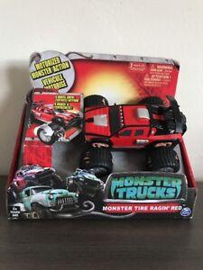 Monster Trucks Movie Monster Tire Ragin Red Motorized Spin Master Monsterinside 778988113004 Ebay