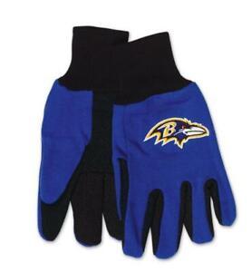 Baltimore-Ravens-Handschuhe-Gloves-gesticktes-Logo-NFL-Football-NEU