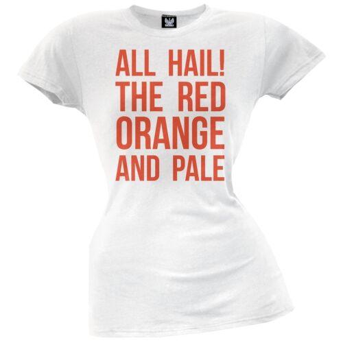 All Hail the Red Orange /& Pale Juniors T-Shirt