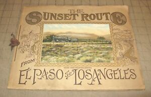 Early 1900s SOUTHERN PACIFIC LINES The Sunset Route Color Litho Picture Booklet