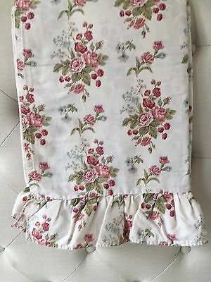 Vintage Ralph Lauren Emily Anne Rose Floral Ruffled Flat Sheet