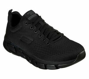 Skechers-Noir-Extra-Wide-Fit-Chaussures-homme-Memory-Foam-Mesh-Sport-Athletic-52857