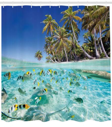 Exotische Insel Unterwasser Wendekreis Duschvorhang