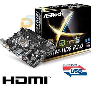 SCHEDA-MADRE-ASROCK-MAINBOARD-USB-3-0-HDMI-SOCKET-1150-INTEL-DDR3-MICRO-ATX