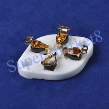 2pc U4A Base Tube Ceramic Socket 4pin For 300B 572B 811A Gold Plated