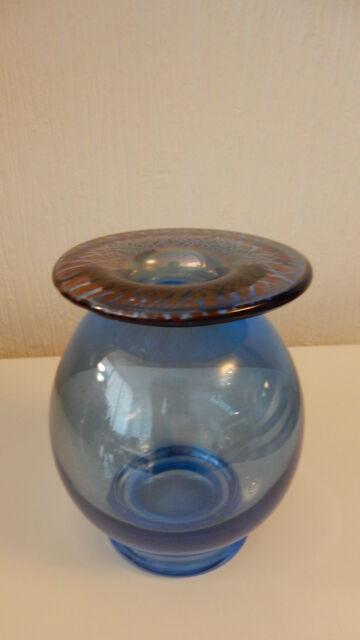 Sehr schöne blaue Vase Glas Glasvase Klostermühle Lötz ?