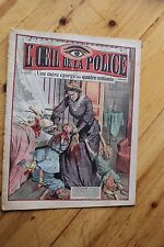 Rarissime L' OEIL DE LA POLICE 2A/47 Une Mère Egorge ses quatre Enfants