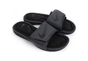 Details about Nike SOLARSOFT COMFORT Men's Slippers rubber Slides  Flip-Flops Black Gray