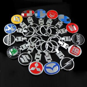 Car Logo Titanium Key Chain Rings Car Keychain Ring Metal Keyrings Gift For Ford