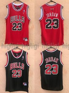brand new 501ba 27c73 Details about NWT Michael Jordan #23 Chicago Bulls Jersey Throwback,  Stitched, Red/Black