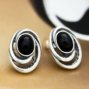 Onyx-Silber-925-Ohrringe-Damen-Schmuck-Sterlingsilber-S192