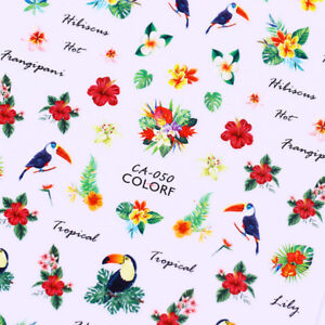 Pattern-3D-Nail-Stickers-Tropical-Flower-Bird-Nail-Art-Transfer-Decals