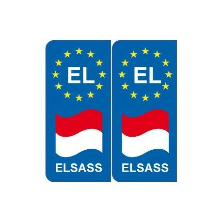 EL europe drapeau Elsass autocollant plaque sticker plaque droits