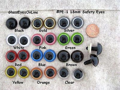 According to EN 71-3 Safety Eyes 3 Pairs 10 mm Black Amigurumi plastic eyes